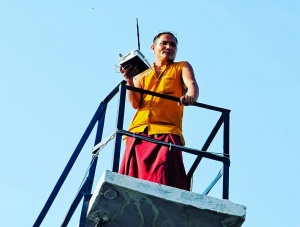 Monitoring water levels in storage tanks in the Himalayas.